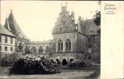 Postcard Bad Bentheim in Niedersachsen, Schloss Bentheim, innerer Schlosshof
