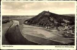 Postcard Porta Westfalica in Nordrhein Westfalen, Weserlauf mit Wittekindsberg