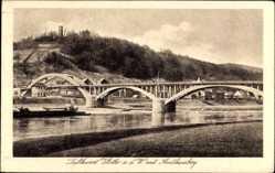 Postcard Vlotho in Nordrhein Westfalen, Amthausberg, Brücke