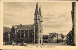 Postcard Meiningen in Südthüringen, Marktplatz, Stadtkirche