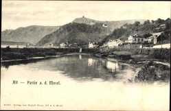 Postcard Alf an der Mosel Rheinland Pfalz, Flusspartie, Ort, Burgberg
