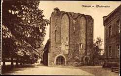 Postcard Gransee im Kreis Oberhavel, Ansicht der Klosterruine