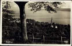 Postcard Sipplingen Baden Württemberg, Panorama, Ort, Kirchturm
