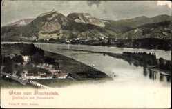 Postcard Königswinter im Rhein Sieg Kreis, Gruß vom Drachenfels, Nonnenwerth