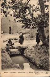 Postcard Taroudant Marokko, Paysages Sahariens, Dans l'Oasis, une Séguia