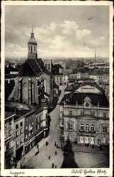Ak Opava Troppau Reg. Mährisch Schlesien, Adolf Hitler Platz, Markt