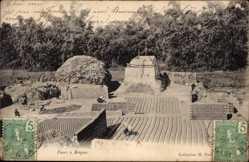 Postcard Tonkin Vietnam, Fours à Briques, Ziegelöfen, Ziegelsteinherstellung