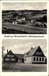 Postcard Heinrichsdorf Olsberg Hochsauerland, Neue katholische Volkschule, Totale