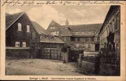 Postcard Spenge in Westfalen, Zigarrenfabrik Leopold Engelhardt und Biermann