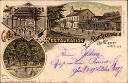 Litho Welver Kreis Soest, Restauration zum Buchenwald, Ch. Wiemer
