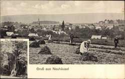 Ak Neuhäusel Rheinland Pfalz, Der Herzogsbusch, Frauen bei der Feldarbeit