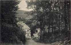 Postcard Burbach in Westfalen, Partie aus der alten Burbach, Fachwerkhaus