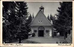 Postcard Jagdhaus Schmallenberg im Hochsauerland, Gasthof Wiese, Hubertuskapelle