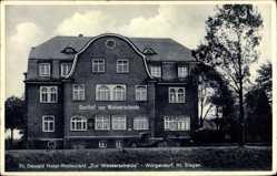 Postcard Würgendorf Burbach, Fr. Oswald, Hotel Restaurant zur Wasserscheide