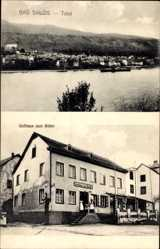 Postcard Bad Salzig Boppard im Rhein Hunsrück Kreis, Gasthaus zum Anker, Totale