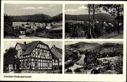 Postcard Dreislar Medebach im Hochsauerlandkreis, Gasthof Schüngel, Forsthaus