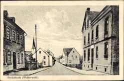 Postcard Herschbach Westerwald, Straßenpartie, Kirchturm, Häuser