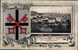 Leporello Wappen Ak Andernach im Landkreis Mayen Koblenz, Namedy Sprudel