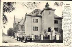 Postcard Mönchengladbach in Nordrhein Westfalen, Abteistraße, Anwohner, Gebäude