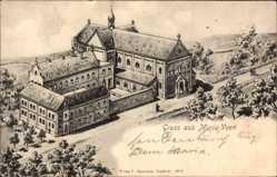 Künstler Ak Maria Veen Reken, Kloster aus der Vogelschau