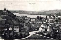 Postcard Remagen im Kreis Ahrweiler, Blick auf die Stadt und die Landschaft