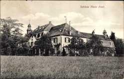 Postcard Lohmar in Westfalen, Blick auf Schloss Haus Auel, Seitenansicht, Wiese