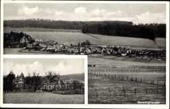 Postcard Gevelinghausen Olsberg im Hochsauerlandkreis, Gesamtansicht,Gasthof Stratmann