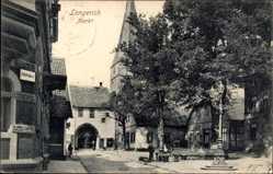 Postcard Lengerich im Tecklenburger Land Westfalen, Blick auf den Markt, Torbogen