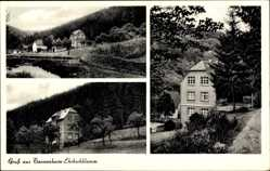 Postcard Buchholz Boppard Hunsrück, Gasthaus u. Pension Tannenheim Ehrbachklamm