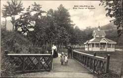 Postcard Bad Salzig Boppard im Rhein Hunsrück Kreis, eine Partie im Kurpark, Brücke
