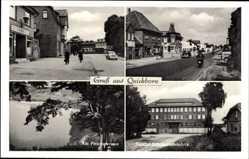 Postcard Quickborn im Kreis Pinneberg, Cafe, Prophetensee, Trumpf Schokoladefabrik