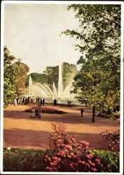Postcard Hamburg Mitte, Internationale Gartenbauausstellung 1953, Rosenhof