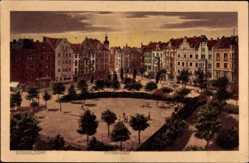 Postcard Düsseldorf am Rhein, Blick auf den Fürstenplatz, Häuser