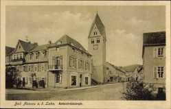 Postcard Nassau im Rhein Lahn Kreis, Kettenbrückstraße, Glockenturm