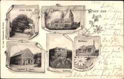 Postcard Buch am Forst Lichtenfels, dicke Eiche, Schloss, Molkerei, Gasthof Seul