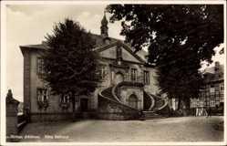 Postcard Rüthen im Kreis Soest Nordrhein Westfalen, Blick auf Altes Rathaus, Treppen