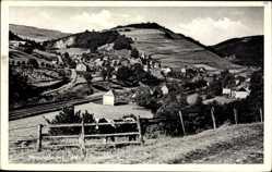 Postcard Messinghausen Brilon im Hochsauerlandkreis, Gesamtansicht, Felder, Ortschaft