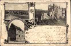 Postcard Wierschem Rheinland Pfalz, Schlosseltz, Gasthaus Zur Burg, Inhaber Link