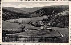 Postcard Lutzerath in der Eifel, Alt Mühle im Üßbachtal, Felder, Wald