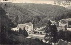 Postcard Dahlerbrück Schalksmühle im Sauerland, Häuser, Wald, Bahnhof, Gleisseite