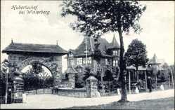 Postcard Winterberg im Hochsauerlandkreis, Blick auf den Hubertushof, Tor