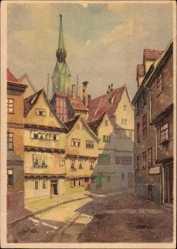 Künstler Ak Busse, Wilhelm, Halle an der Saale, Der Trödel