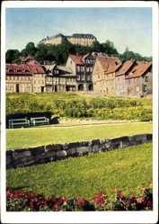 Postcard Blankenburg am Harz, Blick auf das Schloss und die Kuranlagen