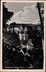 Postcard Haigerloch im Zollernalbkreis, Blick auf das Schloss, Häuser, Straße
