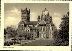 Postcard Neuss in Nordrhein Westfalen, Blick auf das Münster, Platz