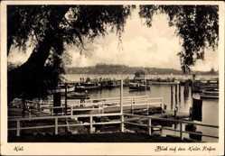 Postcard Kiel in Schleswig Holstein, Blick auf den Hafen, Boote, Ort, Steg