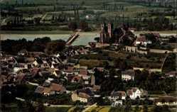 Postcard Breisach am Oberrhein Kreis Breisgau Hochschwarzwald, Ort, Fliegeraufnahme