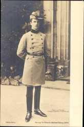 Postcard Herzog Carl Eduard von Sachsen Coburg Gotha, Standportrait