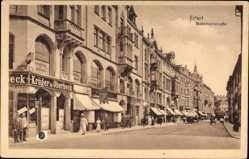 Postcard Erfurt in Thüringen, Bahnhofstraße, Geschäft Krüger und Oberbeck