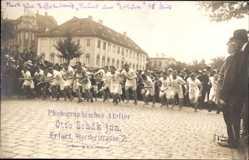 Foto Ak Erfurt in Thüringen, Startschuss zum Staffellauf